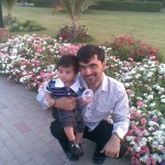 Cute Hadi with Mamoo Jaan 150x150 Luqman with Jasim and Hadi in Bukhari Park