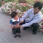 Hadi looking Mamoo Jaan 150x150 Luqman with Jasim and Hadi in Bukhari Park