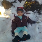 Luqman sitting in snow1 150x150 Luqman with his elder brother Jasim in Murree