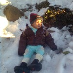 Luqman watching snow1 150x150 Luqman with his elder brother Jasim in Murree