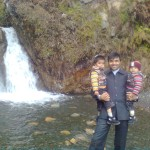 Jasim Luqman and Papa Jaan at waterfall1 150x150 Trip to Pearl Continental Hotel Bhurban, Darya Neelam and Waterfall