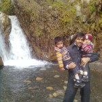 Jasim Luqman and Papa Jaan at waterfall 1 150x150 Trip to Pearl Continental Hotel Bhurban, Darya Neelam and Waterfall