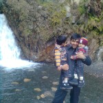 Jasim Luqman and Papa Jaan at waterfall 2 150x150 Trip to Pearl Continental Hotel Bhurban, Darya Neelam and Waterfall