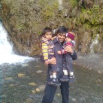 Jasim Luqman and Papa Jaan at waterfall 3 150x150 Trip to Pearl Continental Hotel Bhurban, Darya Neelam and Waterfall