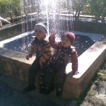 Jasim and Luqman at fountain 150x150 Trip to Pearl Continental Hotel Bhurban, Darya Neelam and Waterfall