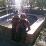 Jasim and Luqman at fountain 1 150x150 Trip to Pearl Continental Hotel Bhurban, Darya Neelam and Waterfall