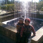 Jasim and Luqman at fountain 2 150x150 Trip to Pearl Continental Hotel Bhurban, Darya Neelam and Waterfall