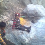 Jasim and Luqman at waterfall 150x150 Trip to Pearl Continental Hotel Bhurban, Darya Neelam and Waterfall