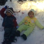 Jasim and Luqman in snow 150x150 Second day pictures of Luqman and Jasim at Patriata, Murree