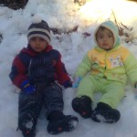 Jasim and Luqman in snow 1 150x150 Second day pictures of Luqman and Jasim at Patriata, Murree