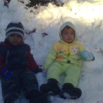 Jasim and Luqman in snow 2 150x150 Second day pictures of Luqman and Jasim at Patriata, Murree