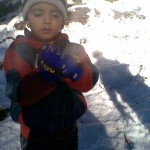 Jasim in snow 150x150 Second day pictures of Luqman and Jasim at Patriata, Murree