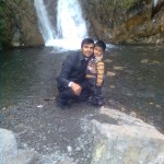Jasim with Papa Jaan at waterfall 150x150 Trip to Pearl Continental Hotel Bhurban, Darya Neelam and Waterfall