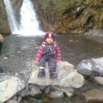 Luqman at waterfall 150x150 Trip to Pearl Continental Hotel Bhurban, Darya Neelam and Waterfall